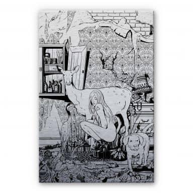 Alu-Dibond-Silbereffekt - Drawstore - In the Livingroom