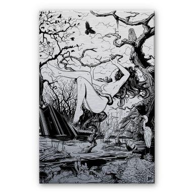 Alu-Dibond-Silberefekt  - Drawstore - Swampland