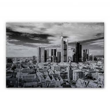 Alu-Dibond Bild Frankfurter Skyline