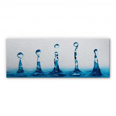H2O Aluminium print