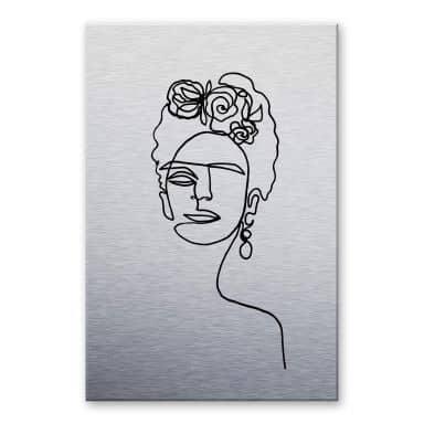 Alu-dibond silver effect - Hariri - Frida Kahlo
