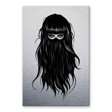 Alu-Dibond mit Silbereffekt Ireland - It-Girl