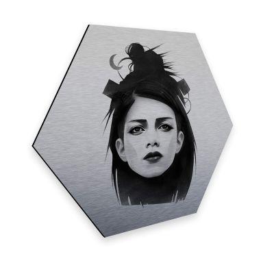 Hexagon - Alu-Dibond-Silbereffekt - Ireland - Undone