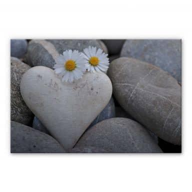Tableau en Alu-Dibond - Fleurs d'Amour
