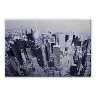 Alu-Dibond Bild Manhattan Luftbild