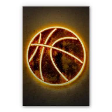 Alu-Dibond mit Silbereffekt Mielu - Basketball