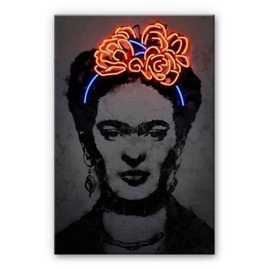 Alu-Dibond mit Silbereffekt Mielu - Frida