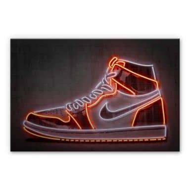 Alu-Dibond mit Silbereffekt Mielu - Sneaker