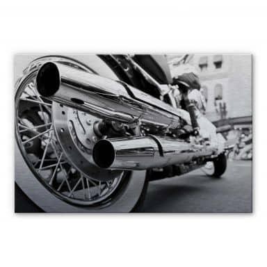 Alu-Dibond Bild Motorcycle Power