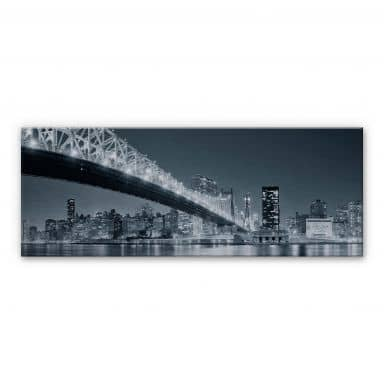 New York at Night 3 - Panorama Aluminium print