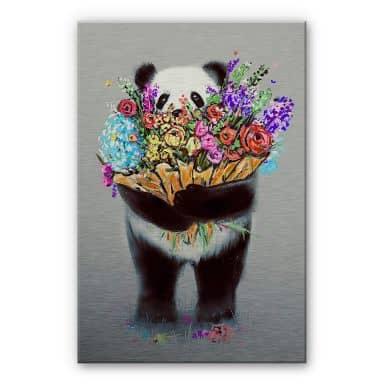 Alu-Dibond mit Silbereffekt Nicebleed - Flowers for you