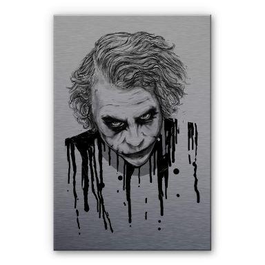 Alu-Dibond mit Silbereffekt Nicebleed - The Joker