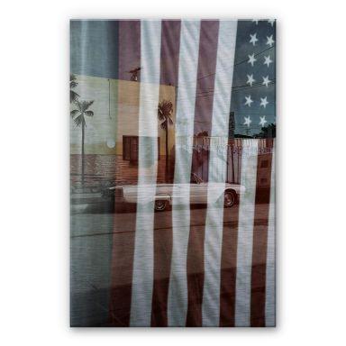 Alu-Dibond mit Silbereffekt Ochlich - American Reflection