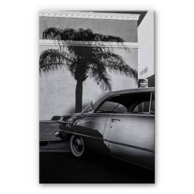 Alu-Dibond mit Silbereffekt Ochlich - Oldtimer in Palm Springs