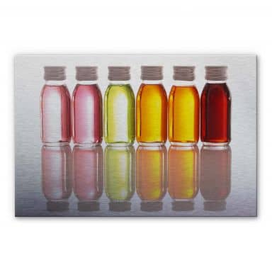 Alu-Dibond Bild Oil Bottles