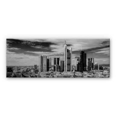 Alu-Dibond Bild Frankfurter Skyline - Panorama