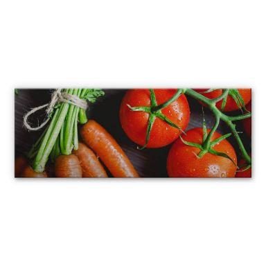 Alu-Dibond Bild Fresh Cooking - Panorama