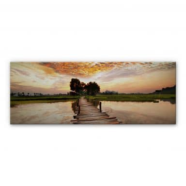To the other Side - Panorama Aluminium print