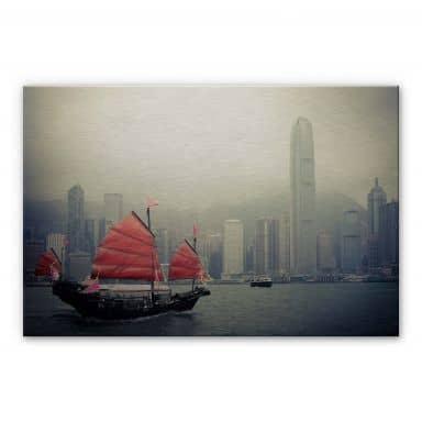 Sailing in Hongkong Aluminium print