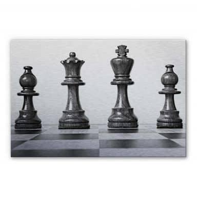 Alu-Dibond Bild Schach Symmetrie
