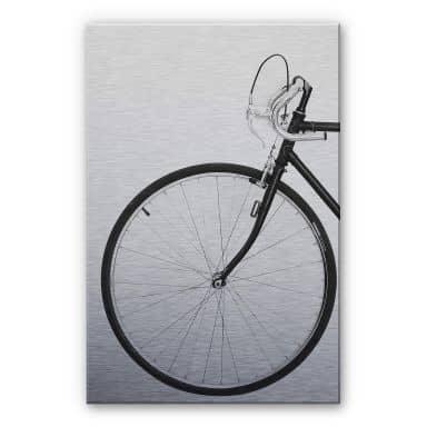 Alu-dibond silver effect Sisi & Seb - Bicycle