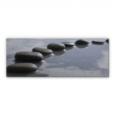 Stone Path Panorama Aluminium print