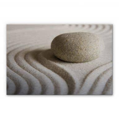 Alu-Dibond Bild Stone in Sand 1