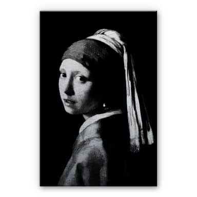 Alu-Dibond silver – Vermeer – the girl