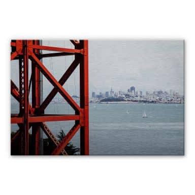 Alu-Dibond Bild Silbereffekt - Vor den Toren von San Francisco
