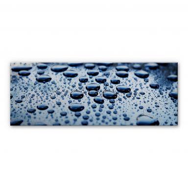 Drops of Water - Panorama Aluminium print