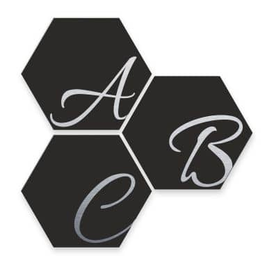 Hexagone Lettres Décoratives - Alu-Dibond effet argenté - noir