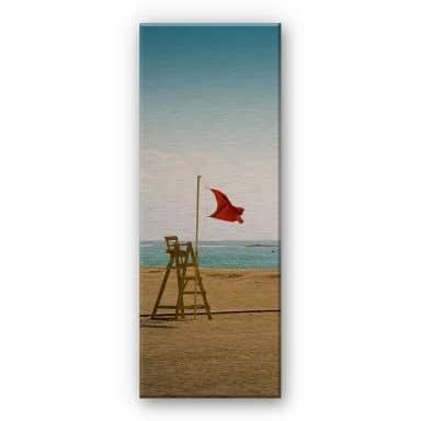 Alu-Dibond Bild Rote Fahne - Panorama