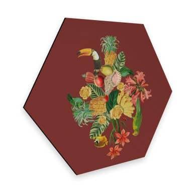 Hexagon - Alu-Dibond Feldmann - Tropical