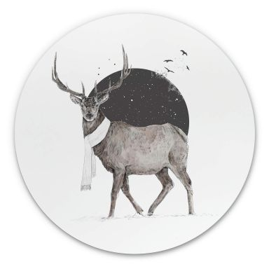 Wandcirkel Solti - Deer Winter