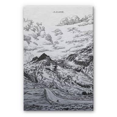 Alu-Dibond mit Silbereffekt Sparshott - Col du Glandon
