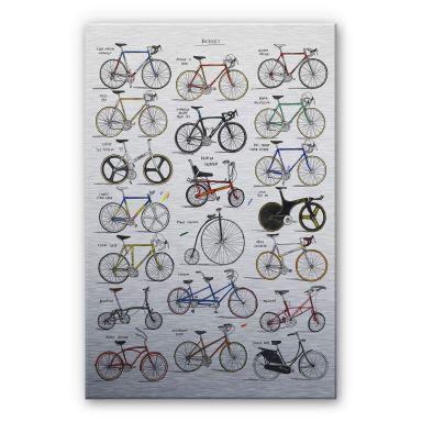 Alu-Dibond mit Silbereffekt Sparshott - Fahrräder