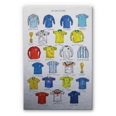 Alu-Dibond mit Silbereffekt Sparshott - Fußballtrikots Weltmeisterschaft