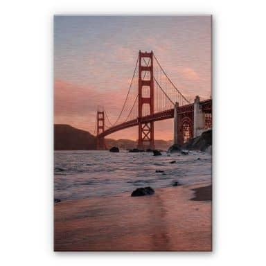 Alu-Dibond mit Kupfereffekt Colombo - Golden Gate Bridge