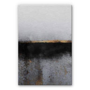 Dibond Schilderij met zilver effect Fredriksson  Smoky Gold