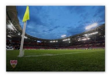 Alu-Dibond Bild VfB Stuttgart Arena Nacht