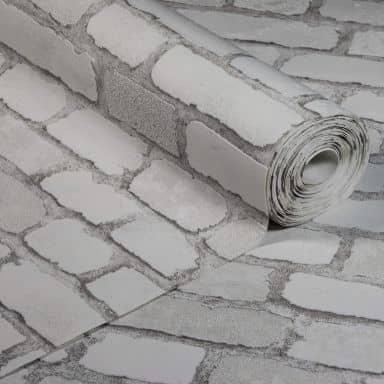 Anaglypta® Brick Carnaby Street Vliestapete in Vintage Backstein Optik weiß, grau