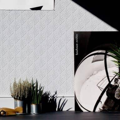 Anaglypta® Deco Paradiso Luxuriöse strukturierte Vinyltapete überstreichbar, weiß