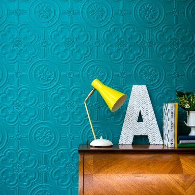 Anaglypta® Egon Luxuriöse strukturierte Vinyltapete überstreichbar, weiß