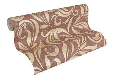 Architects Paper Vliestapete Nobile Blumentapete floral beige, metallic, rot