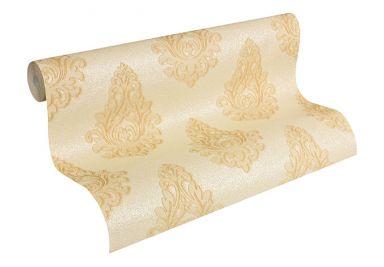 Architects Paper Vliestapete Nobile Barocktapete mit Ornamenten gelb, metallic
