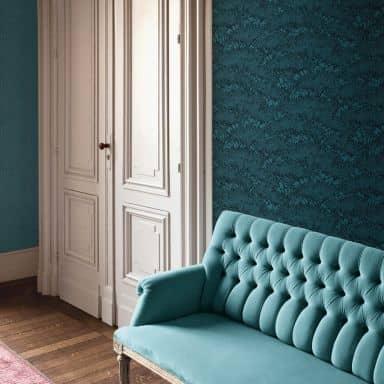 Architects Paper Vliestapete Absolutely Chic Blumentapete floral blau, schwarz