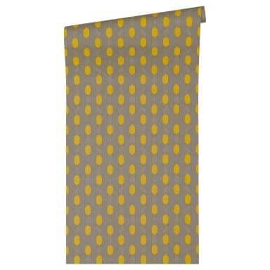 Architects Paper Vliestapete Absolutely Chic grafische Tapete braun, gelb, grau