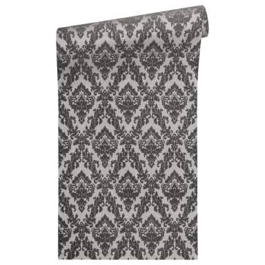 Architects Paper non-woven wallpaper with real flock Castello grey