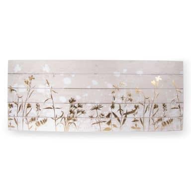 Holzbild Metallic Wood Meadow