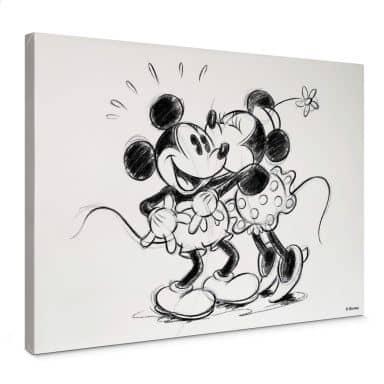 Canvas Mickey and Minnie Hug